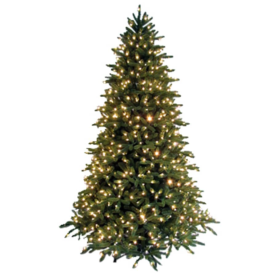 GE 7-1/2' Just Cut Fraser Fir Artificial Christmas Tree with Clear Lights