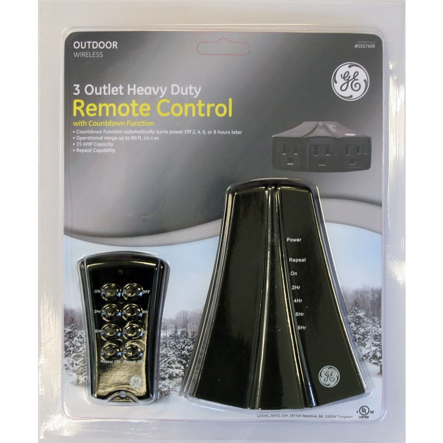 GE 3-Outlet 15-Amp Outdoor Remote Control System