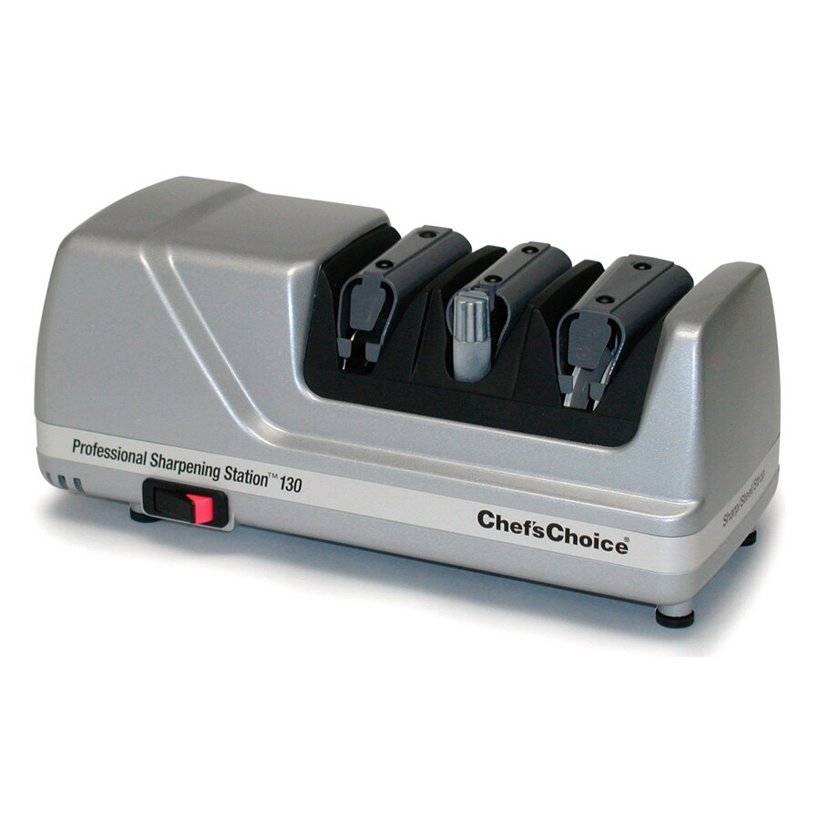 Shop chef 39 schoice electric knife sharpener at for Kitchen knife sharpener
