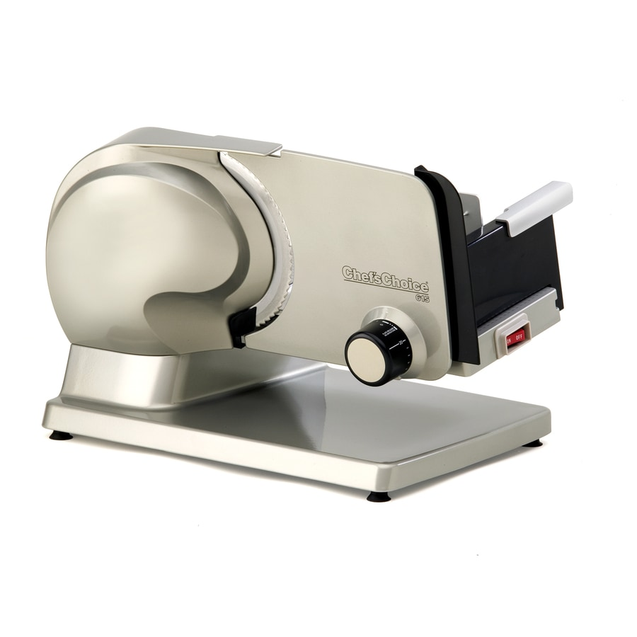 Chef'sChoice 1-Speed Metallic Gray/Gold Food Slicer