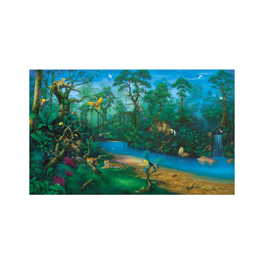 Shop environmental graphics jungle dreams wall mural at for Environmental graphics wall mural