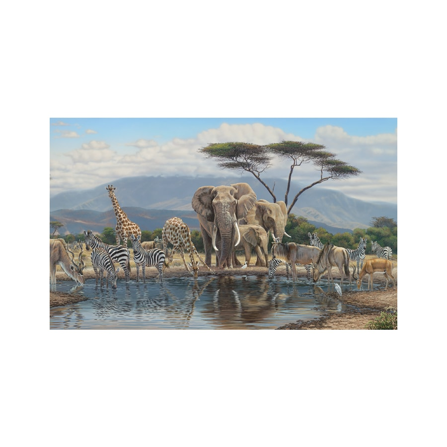 Shop environmental graphics gathering place wall mural at for Environmental graphics wall mural