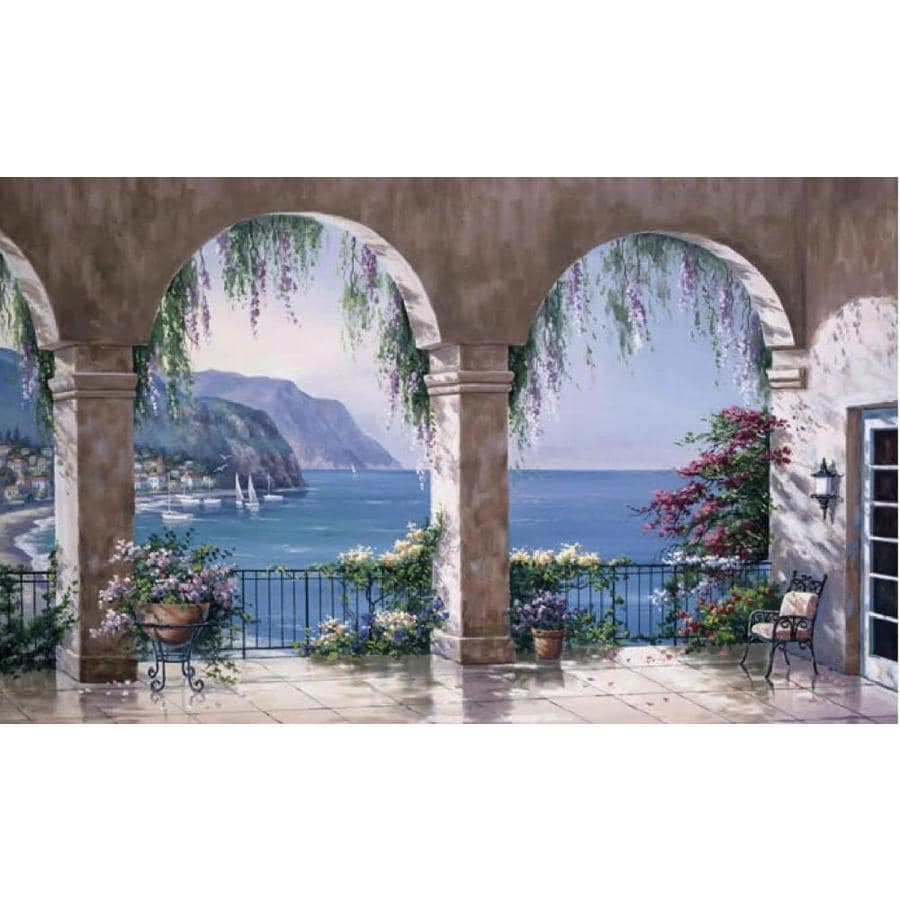 shop environmental graphics mediterranean arch wall mural