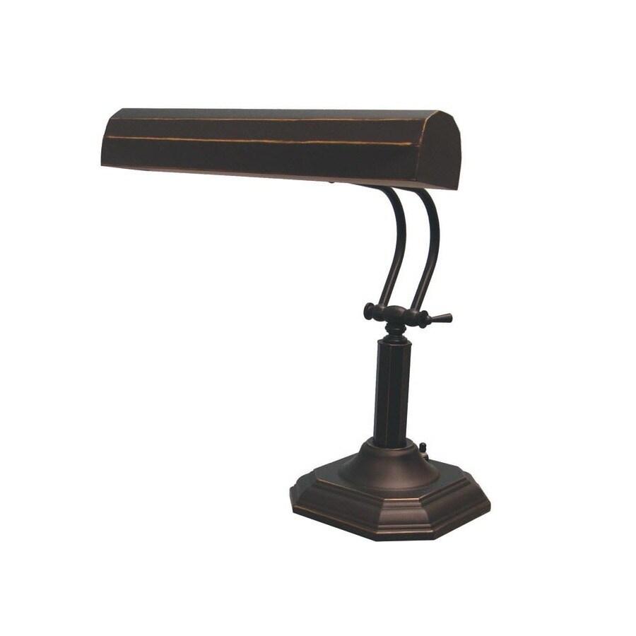 Lite Source 18.5-in Adjustable Bronze Desk Lamp with Metal Shade