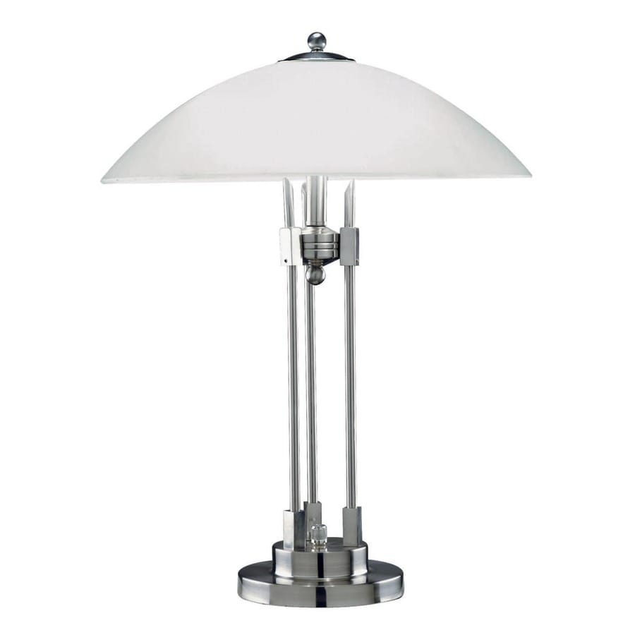 Lite Source 21-in Steel-Painted Indoor Table Lamp with Glass Shade