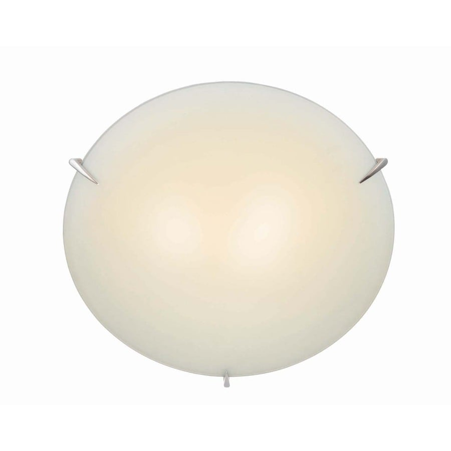 Lite Source 4.5-in H Steel-Painted Wall-Mounted Lamp with Glass Shade