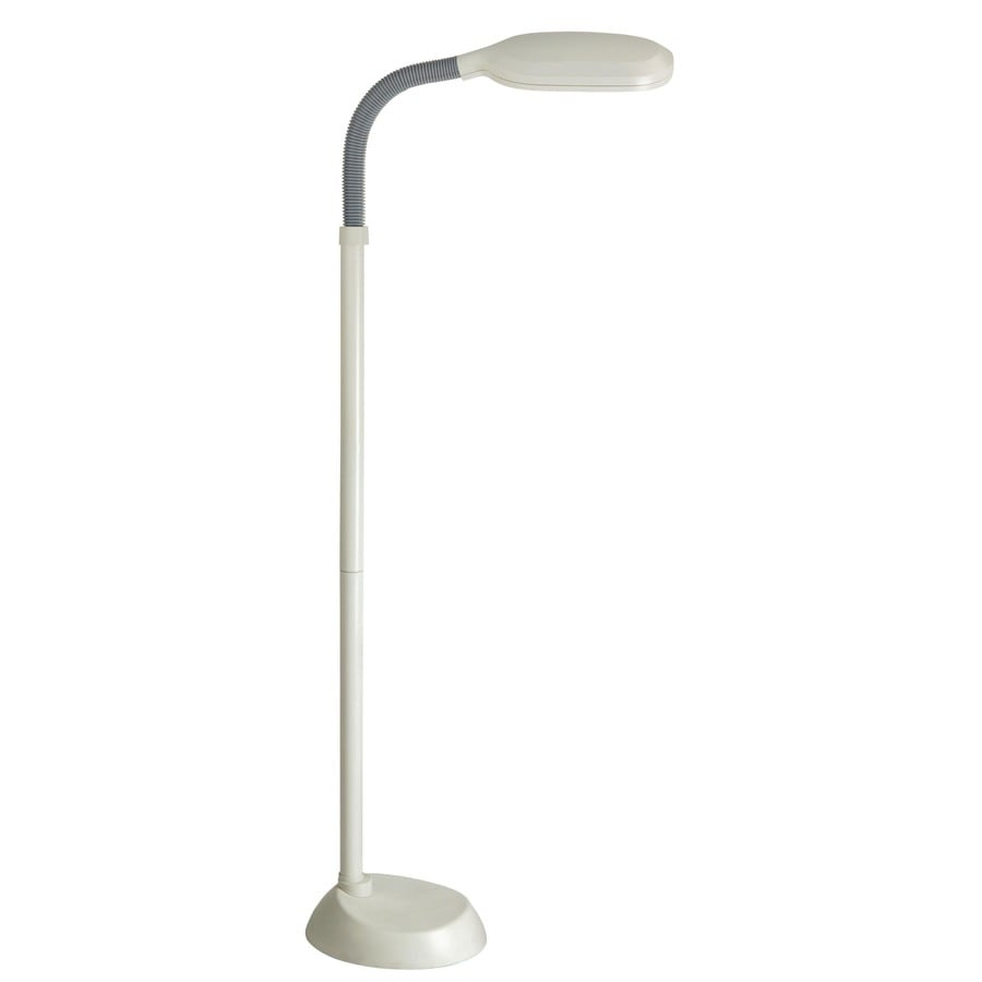 Lite Source 52-in Ivory Indoor Floor Lamp with Plastic Shade