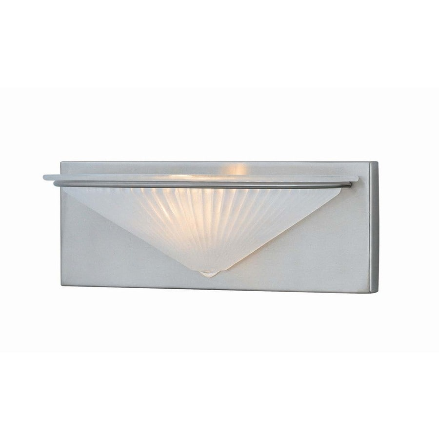 Lite Source 12-1/2-in H Steel-Painted Wall-Mounted Lamp with Glass Shade