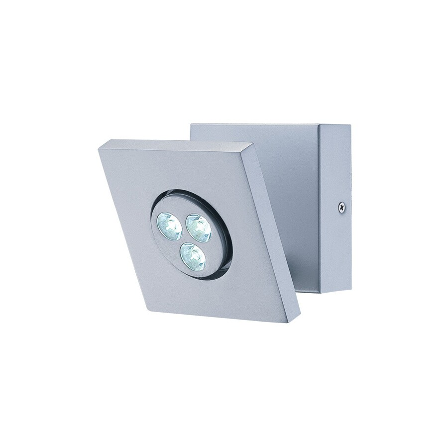 Lite Source 6-in H Gray/Silver LED Wall-Mounted Lamp with Metal Shade
