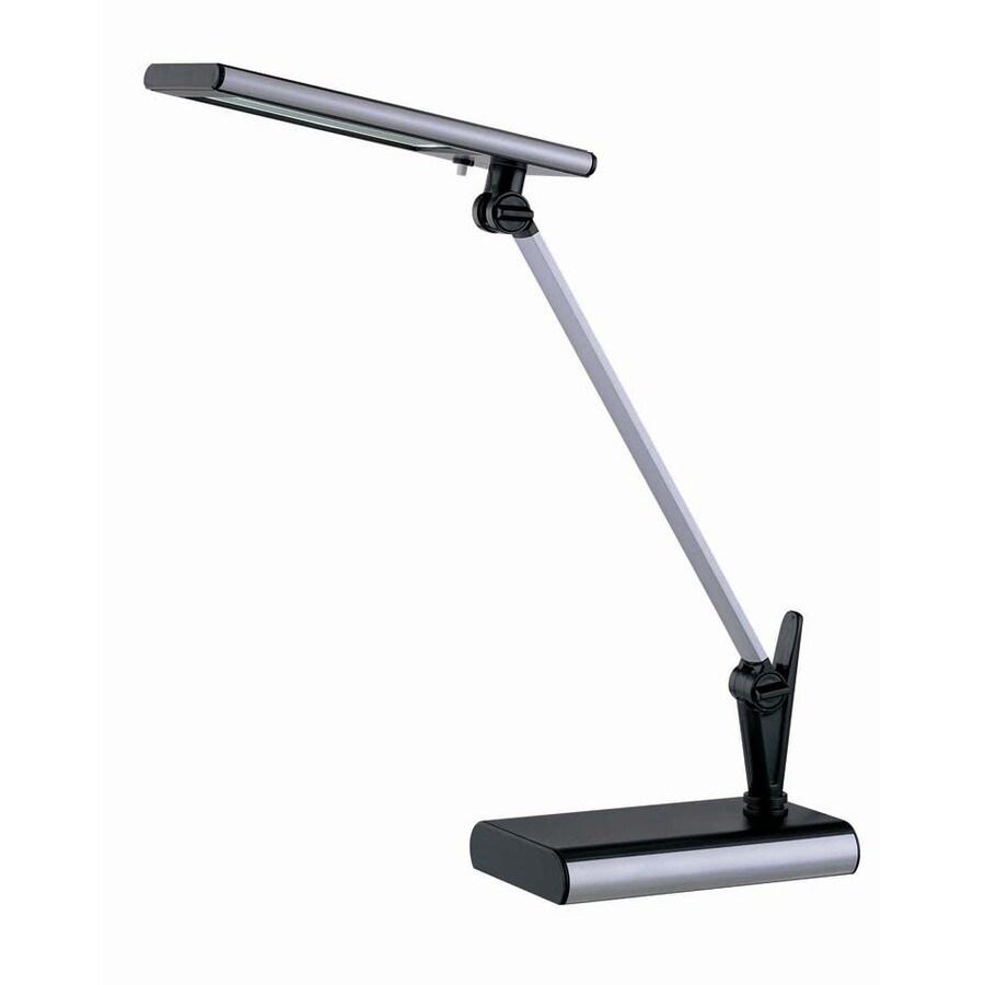 Lite Source 20-in Adjustable Black LED Desk Lamp with Plastic Shade