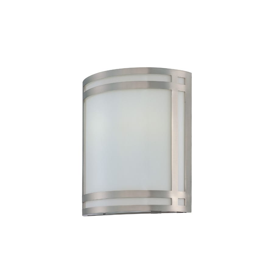 Lite Source 12-in H Steel-Painted Wall-Mounted Lamp with Glass Shade