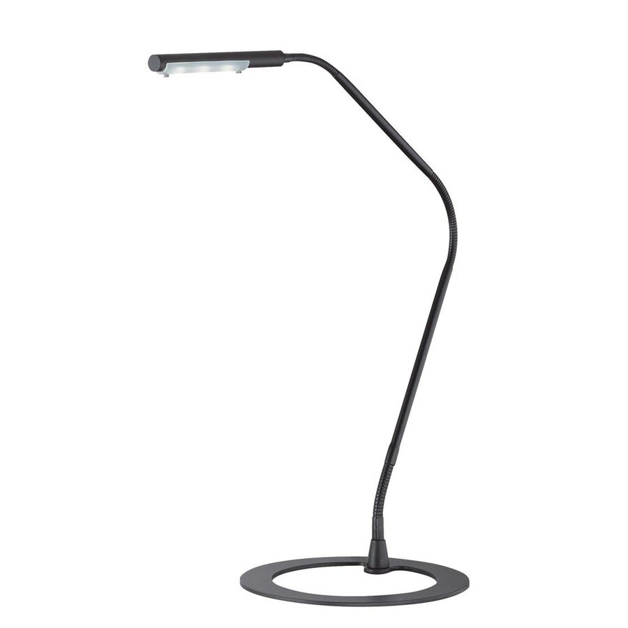 Lite Source 38-in Adjustable Black LED Desk Lamp with Metal Shade