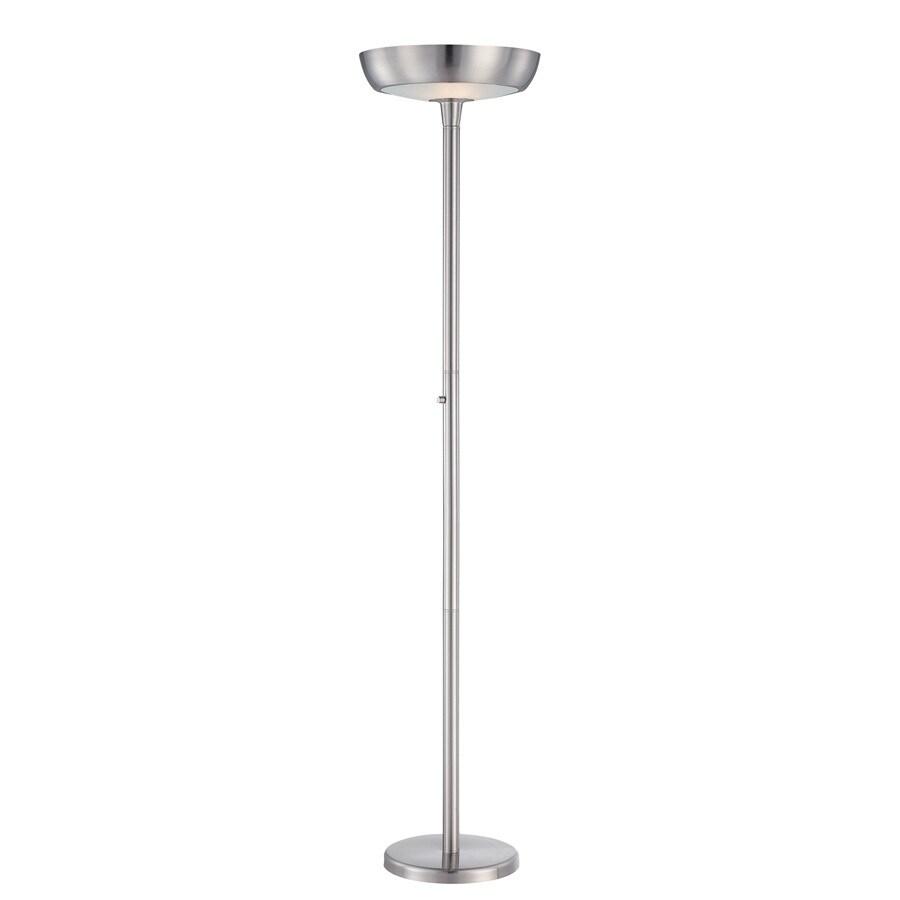 Lite Source 71-in Polished Steel Indoor Floor Lamp with Metal Shade