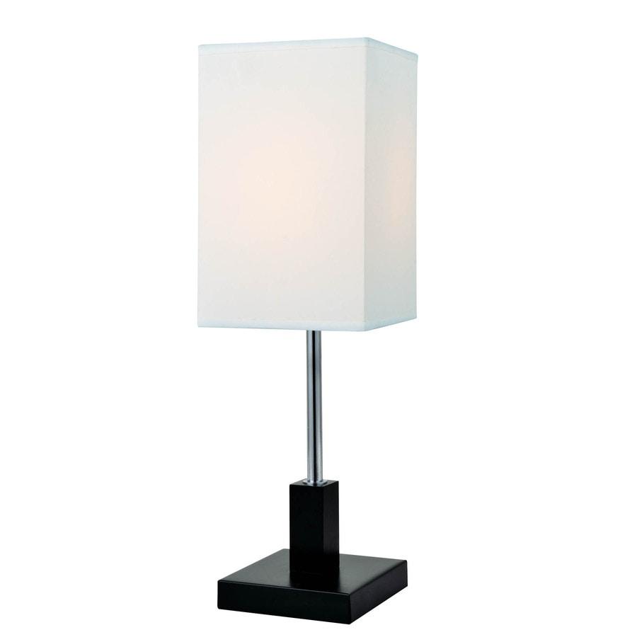 Lite Source Nikki 17.5-in Dark Walnut Indoor Table Lamp with Fabric Shade