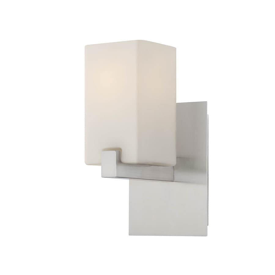 Lite Source 12.25-in H Chrome Wall-Mounted Lamp with Paper Shade