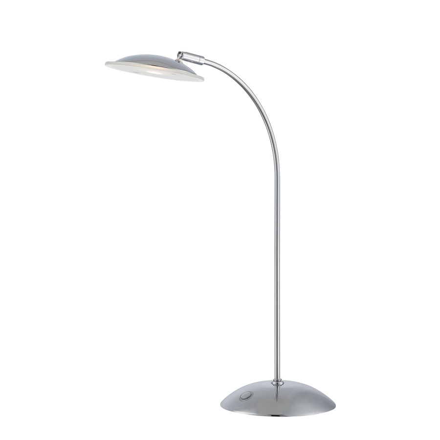 Lite Source Cadee 19-in Chrome Indoor Table Lamp with Glass Shade