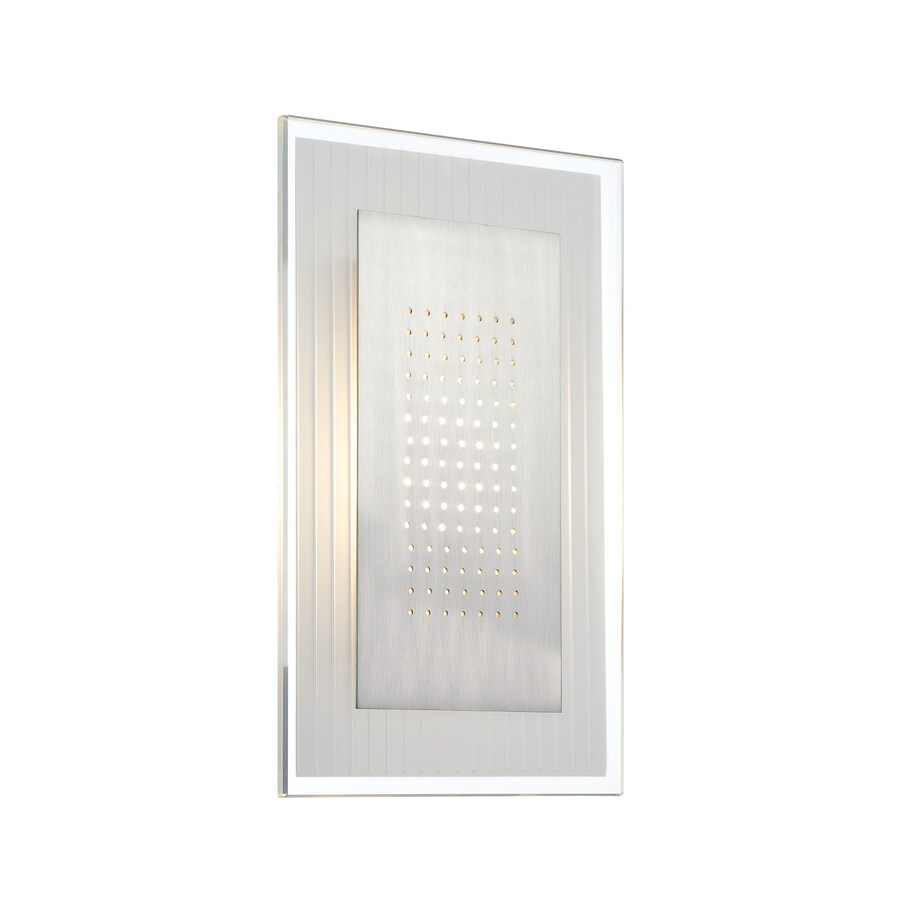 Lite Source Flynn 8-in W 1-Light Polished Steel Candle Hardwired Wall Sconce