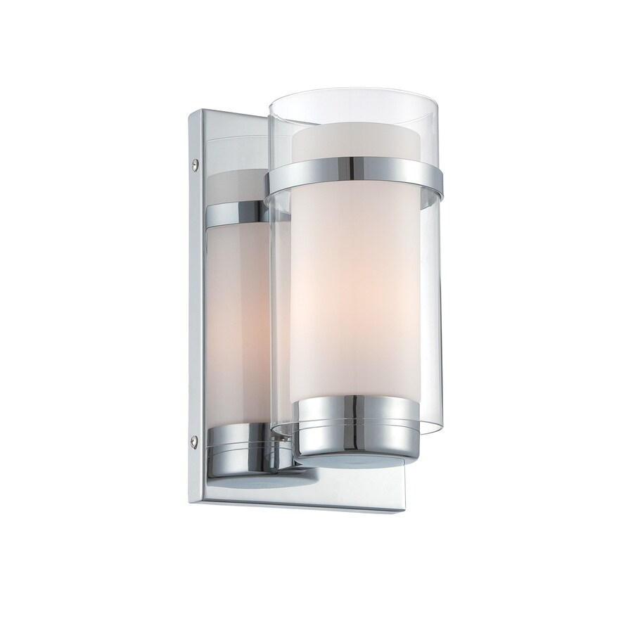 Lite Source Tulio 6-in W 1-Light Chrome Candle Hardwired Wall Sconce