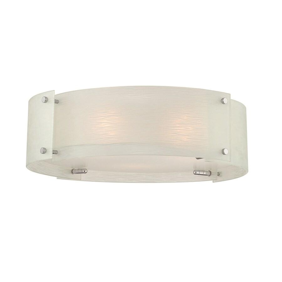 Lite Source Kaelin 17-in W Chrome Ceiling Flush Mount Light