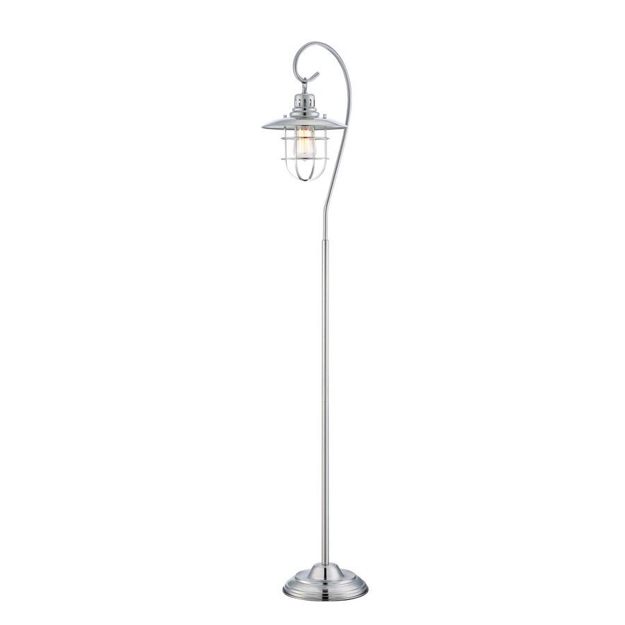 Lite Source Lanterna Ii 58.5-in Polished Steel Shaded Indoor Floor Lamp with Metal Shade