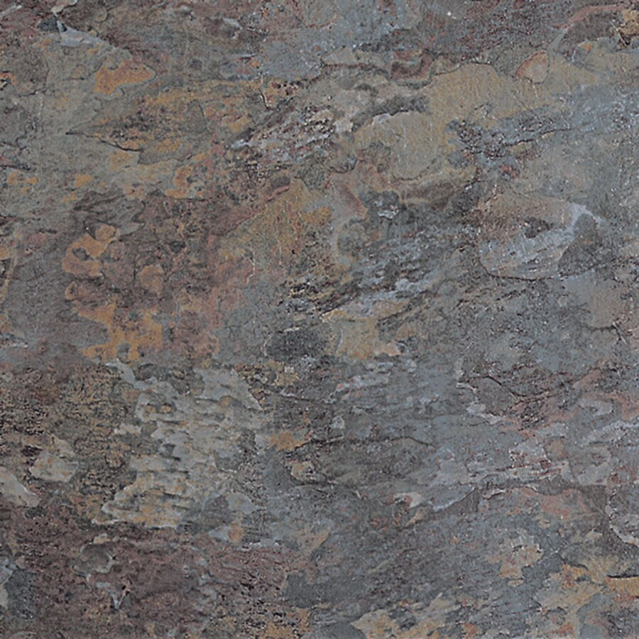 "Congoleum 16"" x 16"" American Slate Natural Gray Shade Slate Finish Luxury Vinyl Tile"