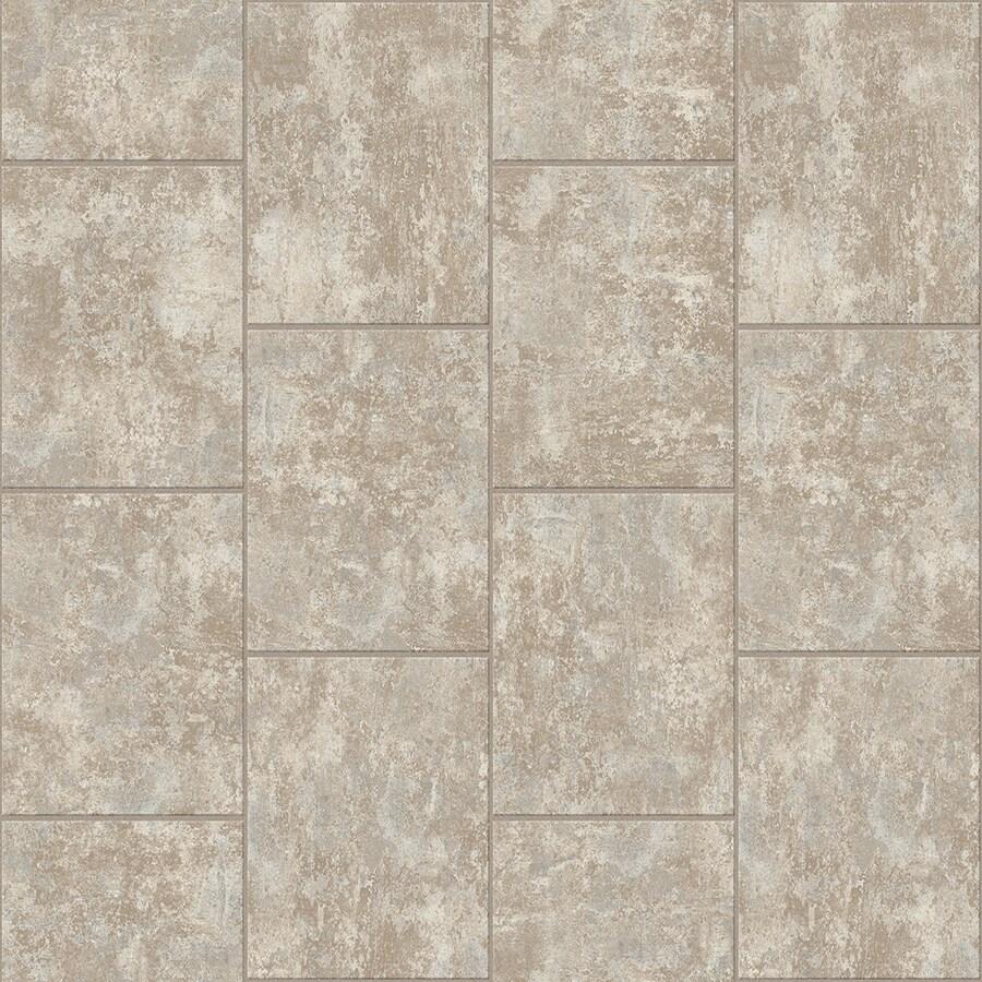 Congoleum LVT 10-Piece 16-in x 16-in Groutable Free Spirit Glue (Adhesive) Stone Luxury Vinyl Tile