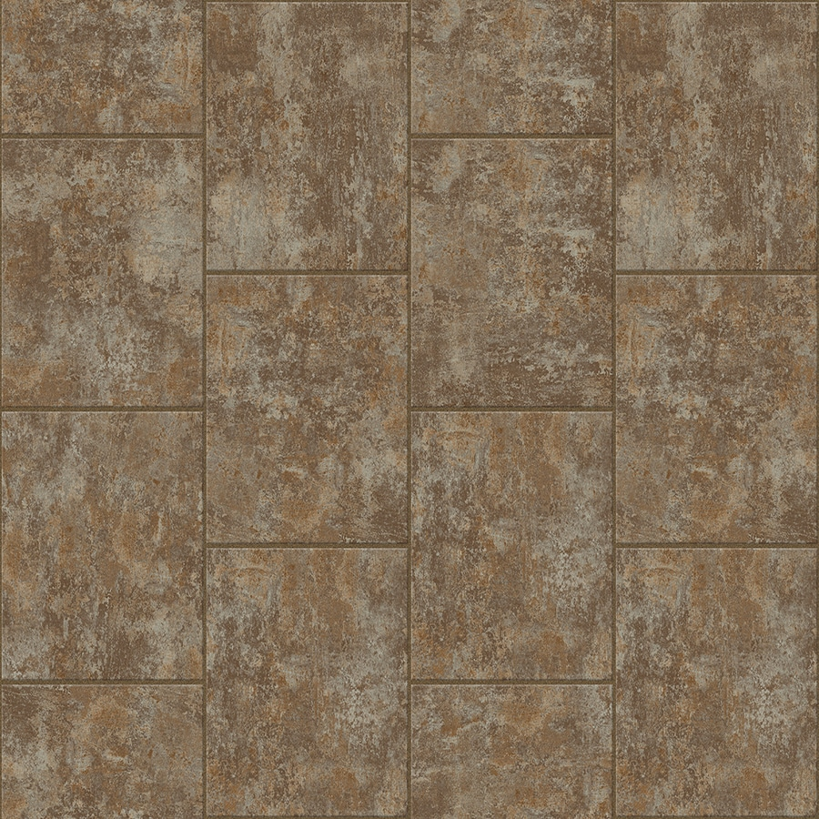 Congoleum LVT 10-Piece 16-in x 16-in Groutable Grounded Glue (Adhesive) Stone Luxury Vinyl Tile