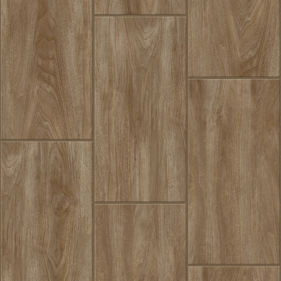 Congoleum LVT 10-Piece 12-in x 24-in Groutable Tawny Bisque Glue (Adhesive) Wood Luxury Vinyl Tile