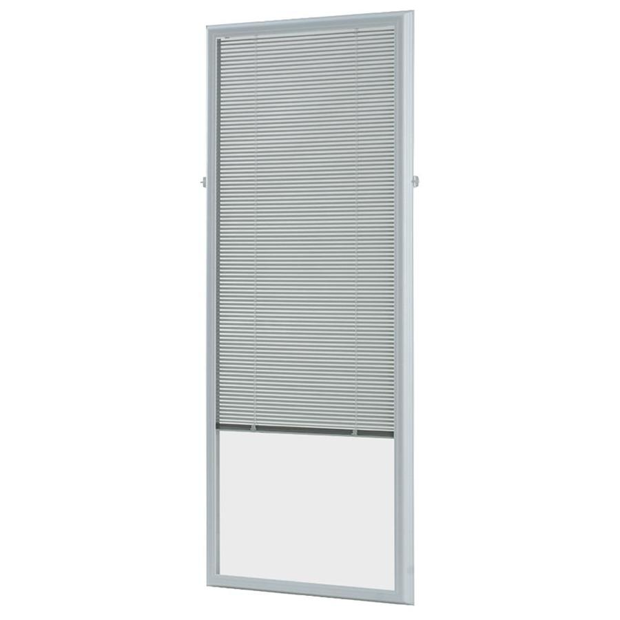 ODL Cordless White Aluminum Light Filtering Door Mini-Blinds (Common 25-in; Actual: 24.75-in x 64-in)