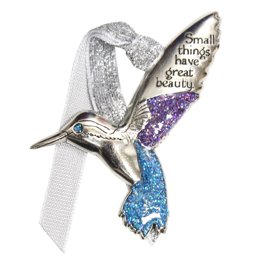 Gloria Duchin Pewter Small Things Have Great Beauty Bird Ornament