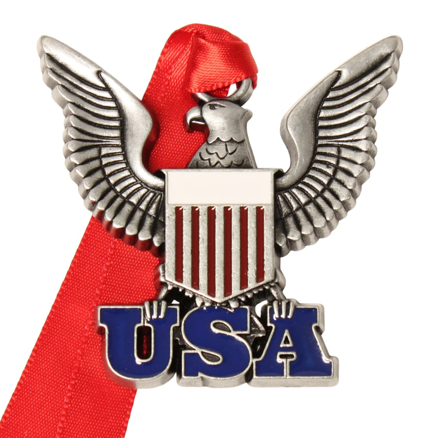 Gloria Duchin Pewter Usa Patriotic Ornament