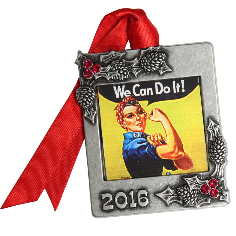 Gloria Duchin Pewter We Can Do It Patriotic Ornament