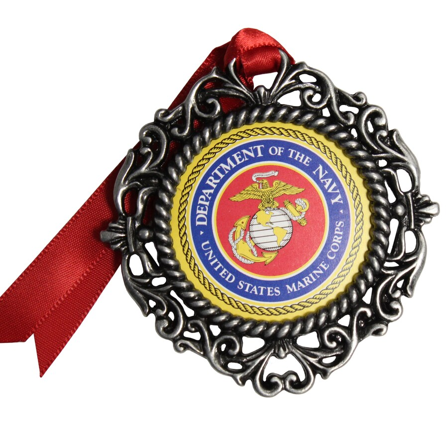 Gloria Duchin Pewter Department Of The Navy United States Marine Corp Navy Ornament