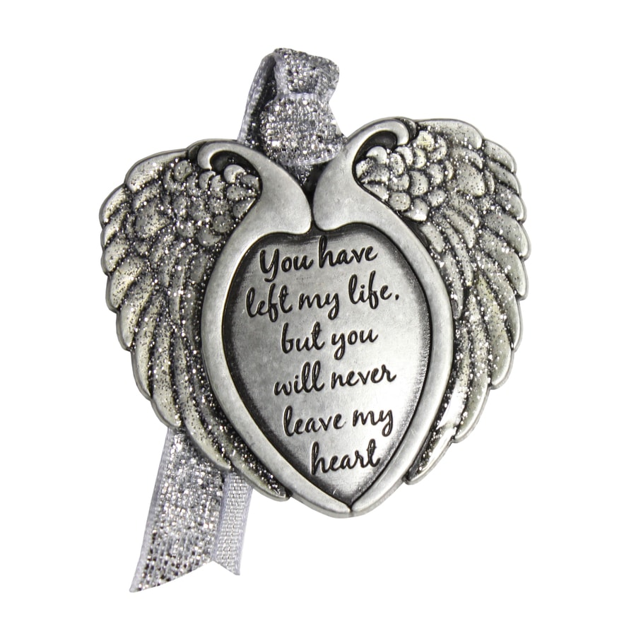 Gloria Duchin Pewter You Have Left My Life But You Will Never Leave My Heart Angel Ornament