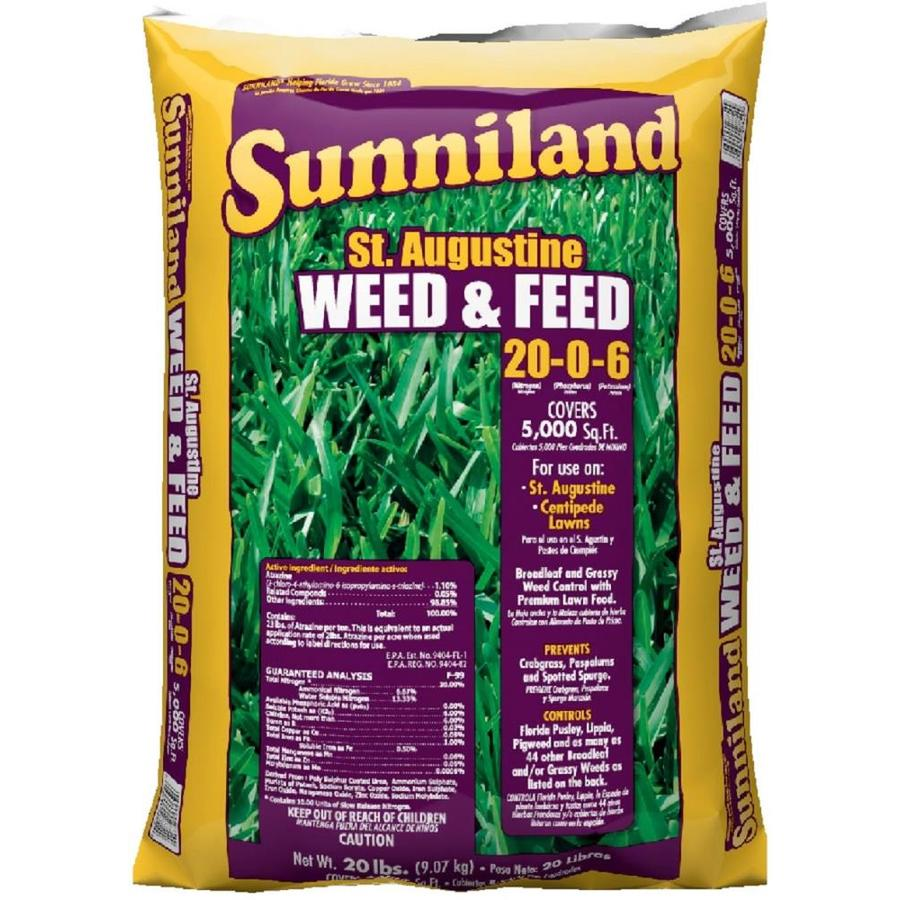 Sunniland 5,000-sq ft St. Augustine Weed and Feed Organic or Natural Lawn Fertilizer (20-0-6)