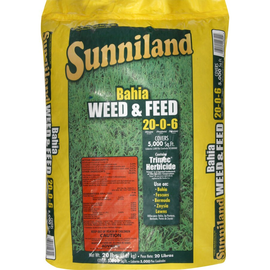 Sunniland 5,000-sq ft Bahia Weed and Feed Organic or Natural Lawn Fertilizer (20-0-6)