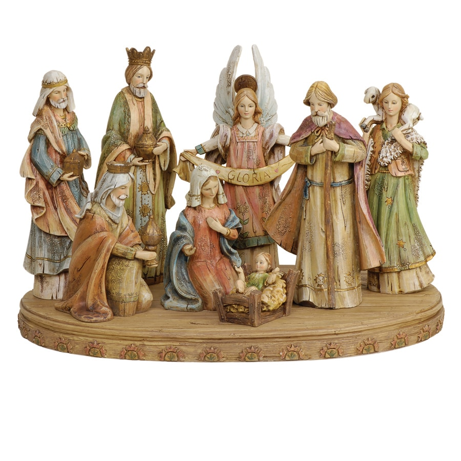 Joseph's Studio 8-Piece Christmas Resin Nativity Set
