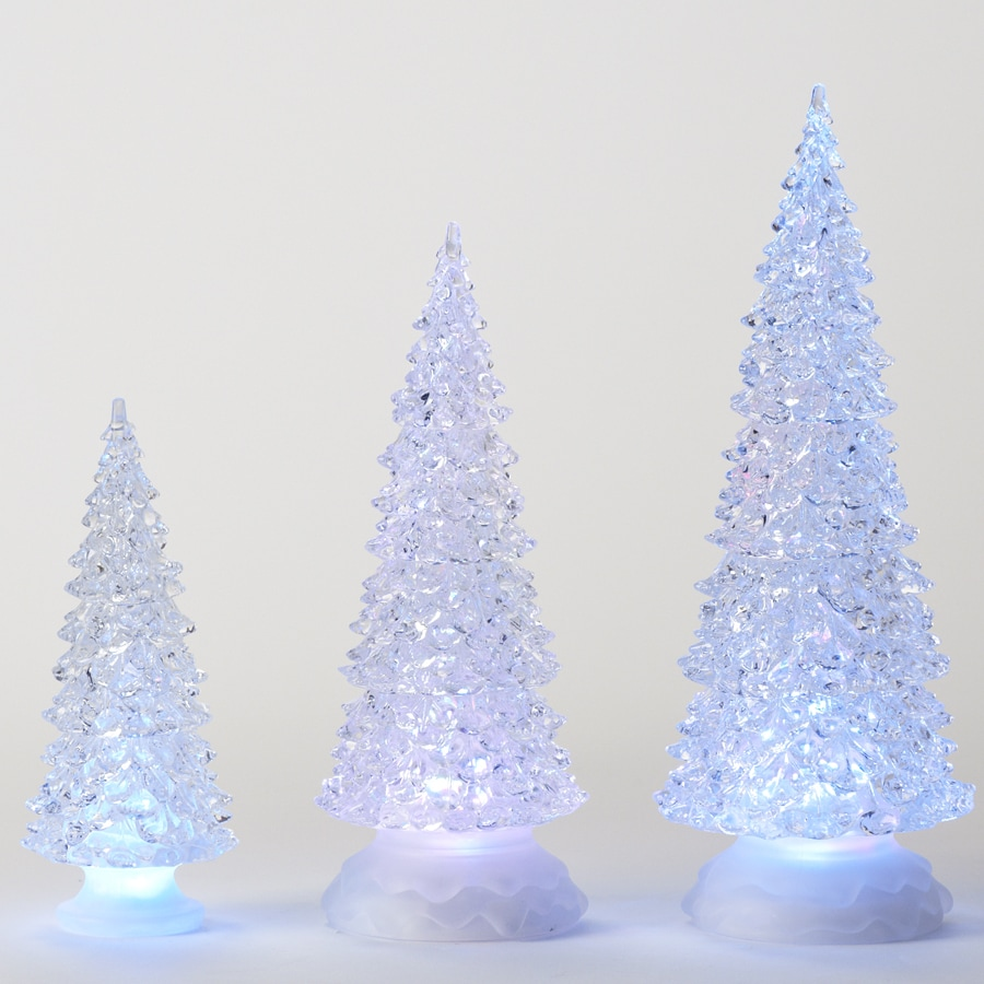 Roman Plastic Lighted Christmas Trees