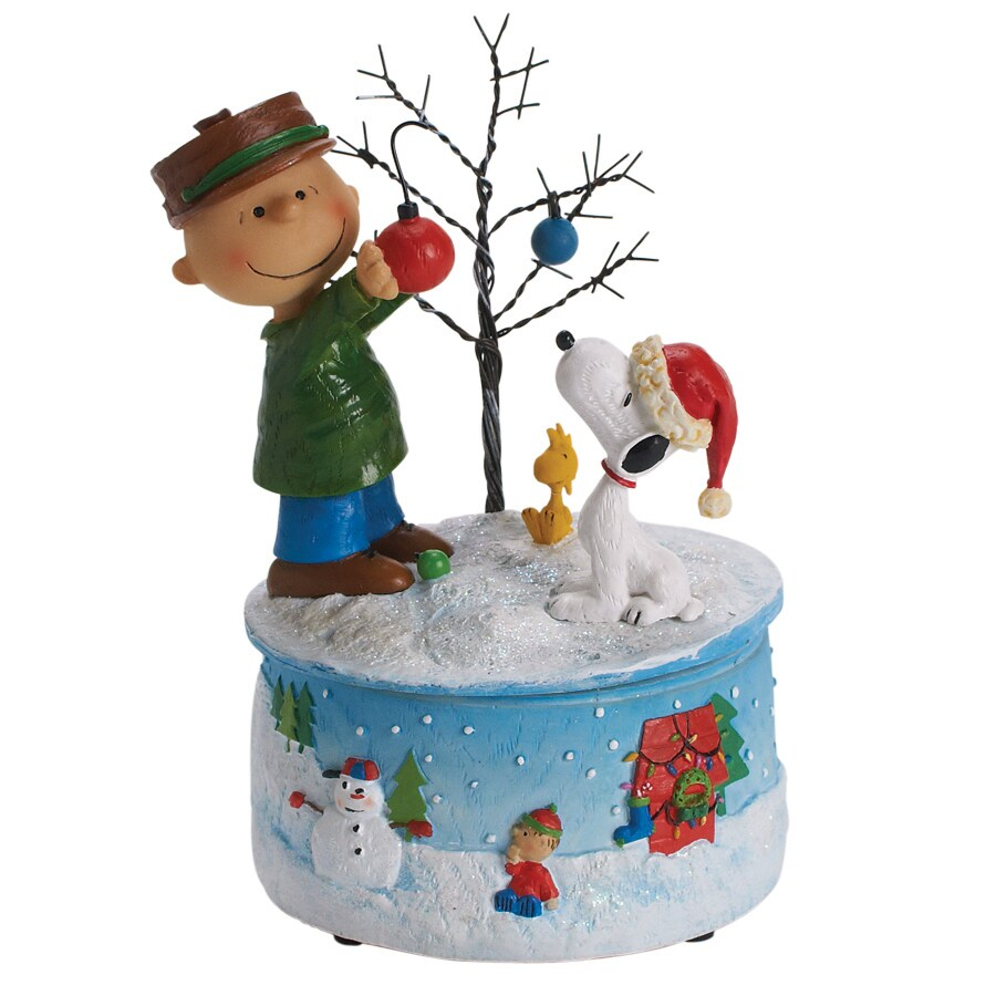 Peanuts Christmas Resin Musical Peanuts Deco Tree Figure