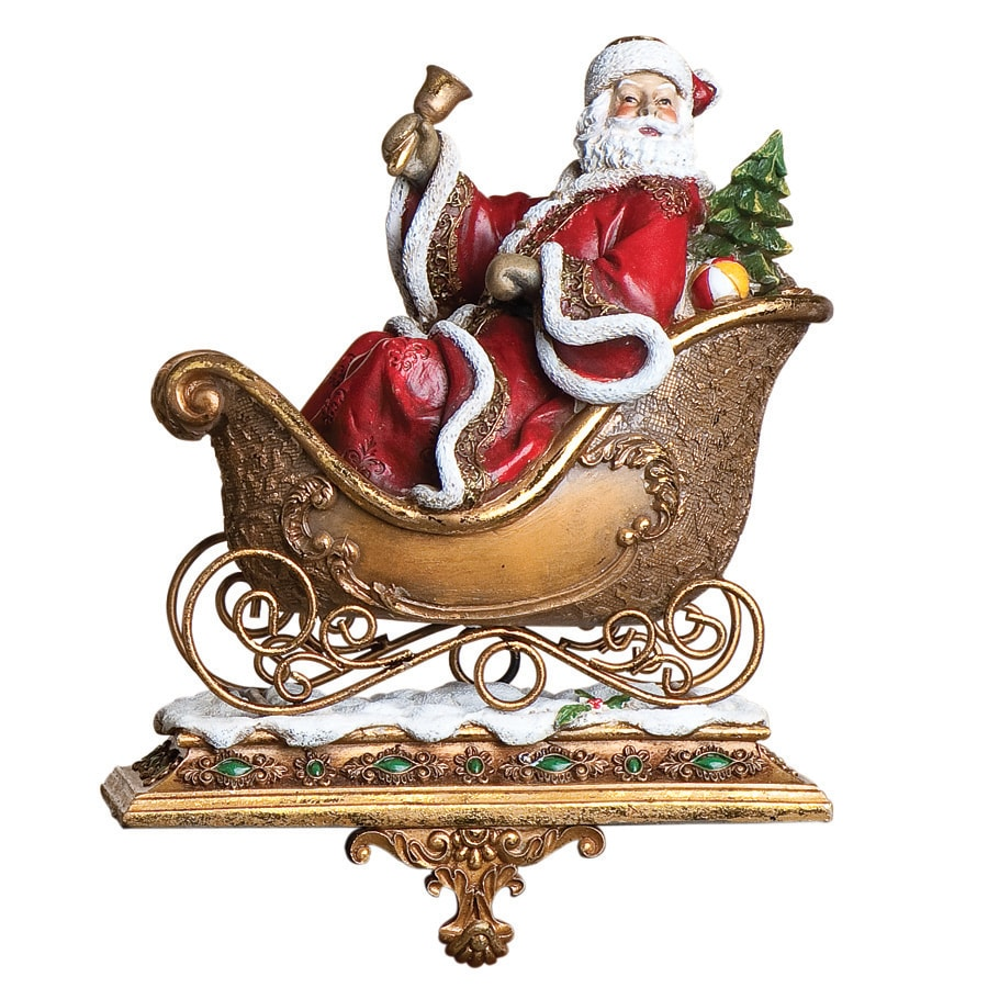 Joseph's Studio Santa and Deer Decorative Christmas Stocking Holder
