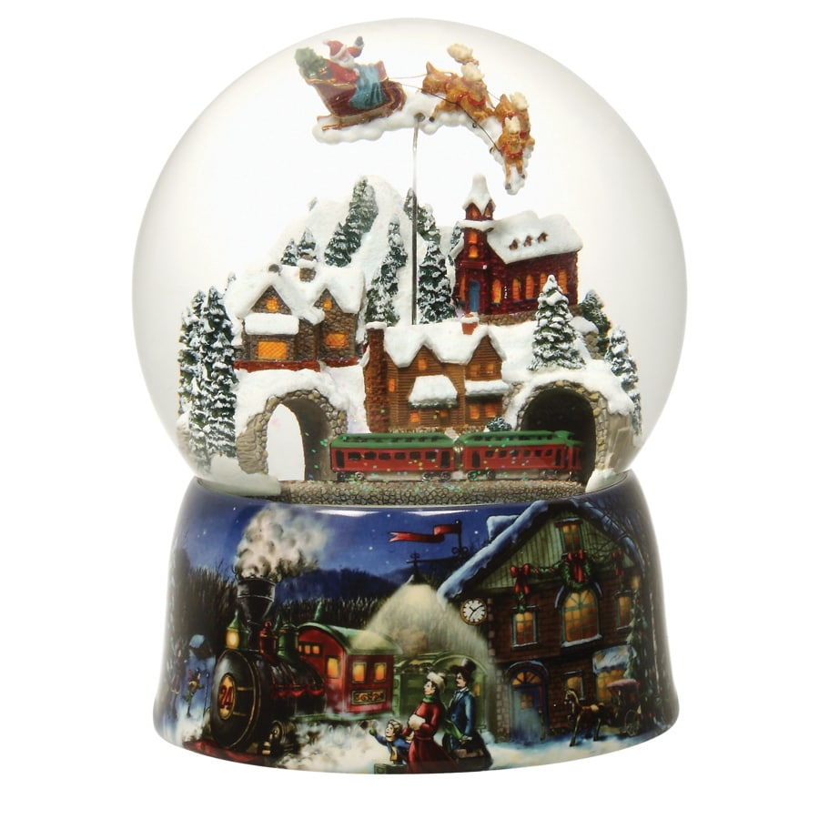 Glitterdome Christmas Resin Musical Village Glitterdome