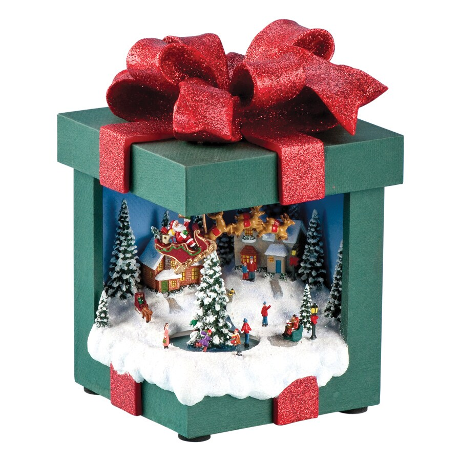 Amusements Christmas Resin Lighted Musical Santa Gift Box