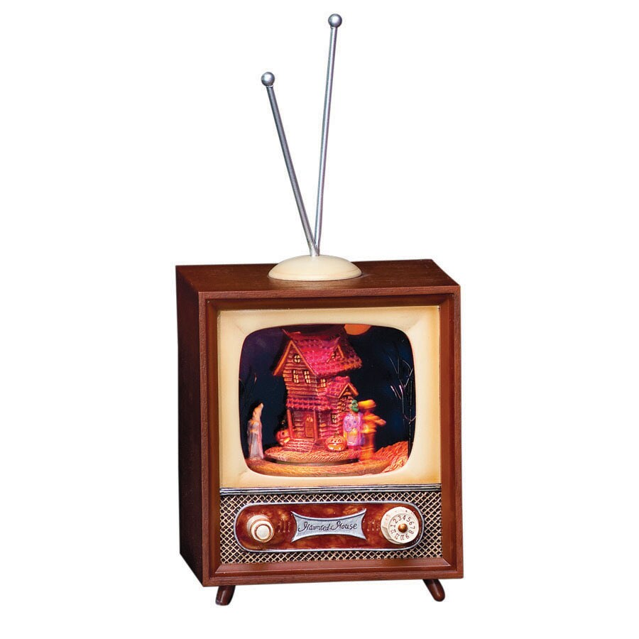 Amusements Halloween Resin Lighted Musical Retro TV