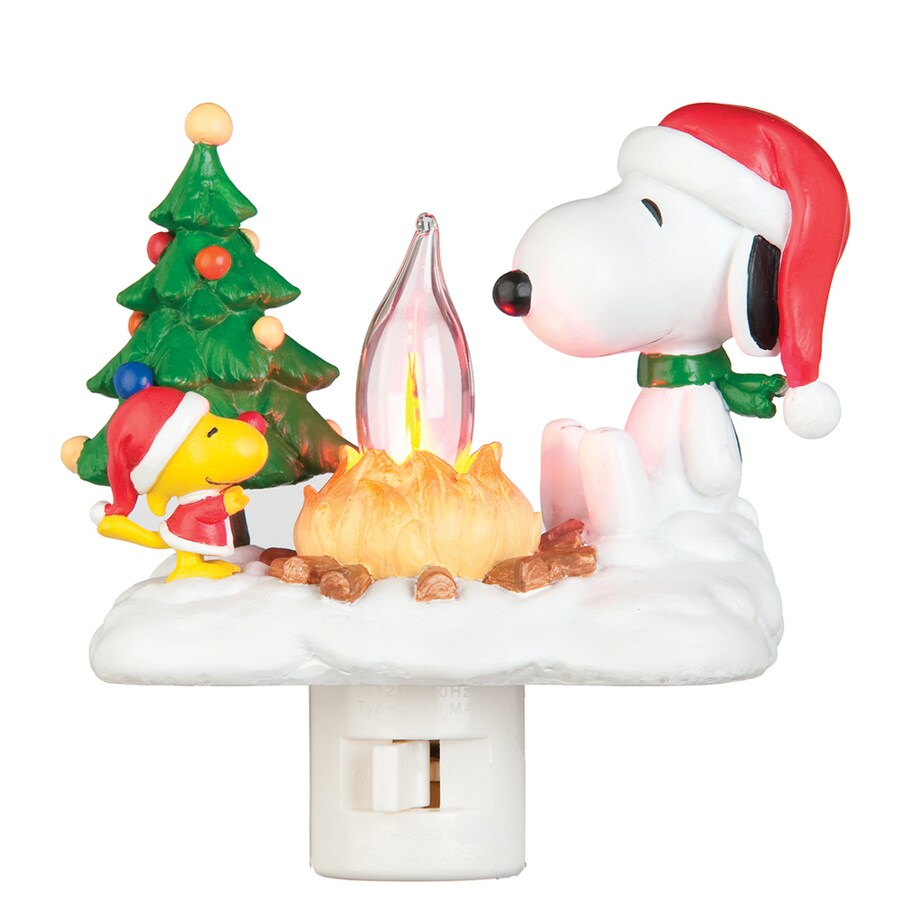 Peanuts Christmas Multicolor Incandescent Night Light with Auto On/Off