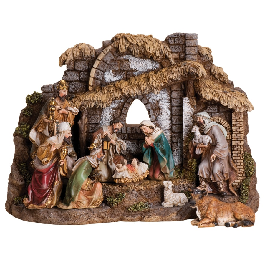 Joseph's Studio 10-Piece Christmas Resin Nativity Set