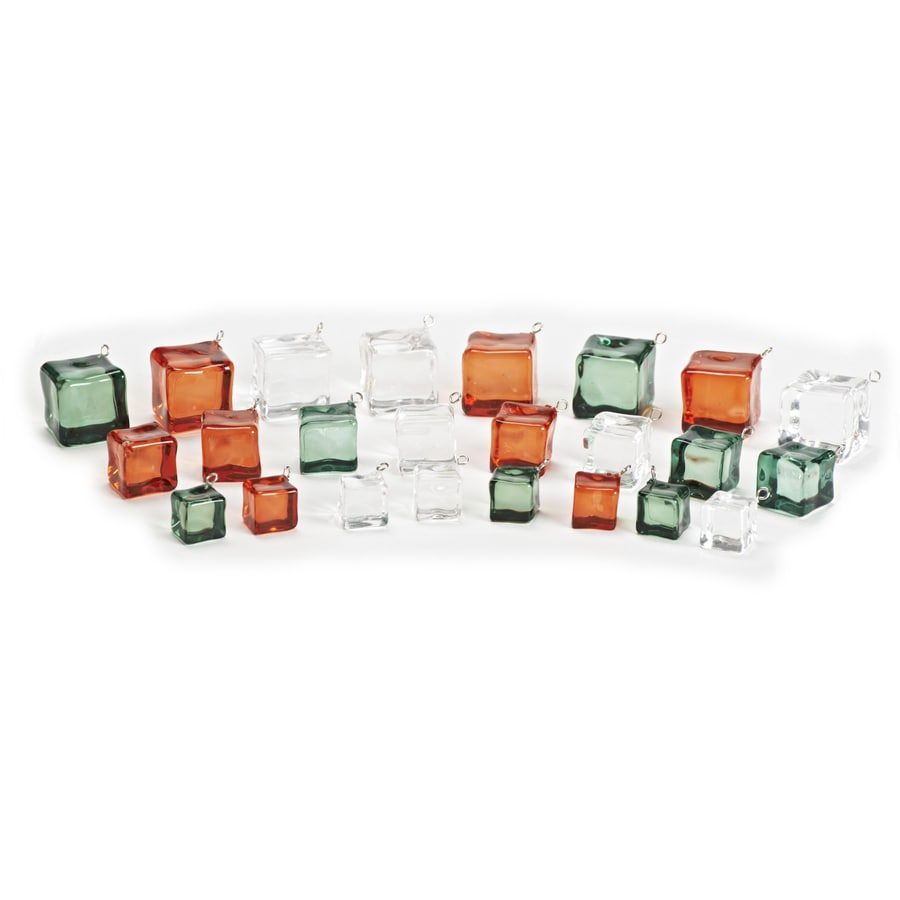 Roman Red, Green and Clear Ornament Set Lights