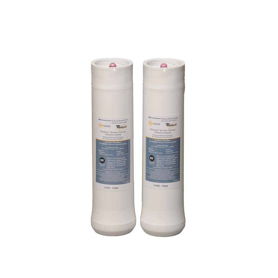 Whirlpool 2-Pack Under Sink Replacement Filters with Reverse Osmosis