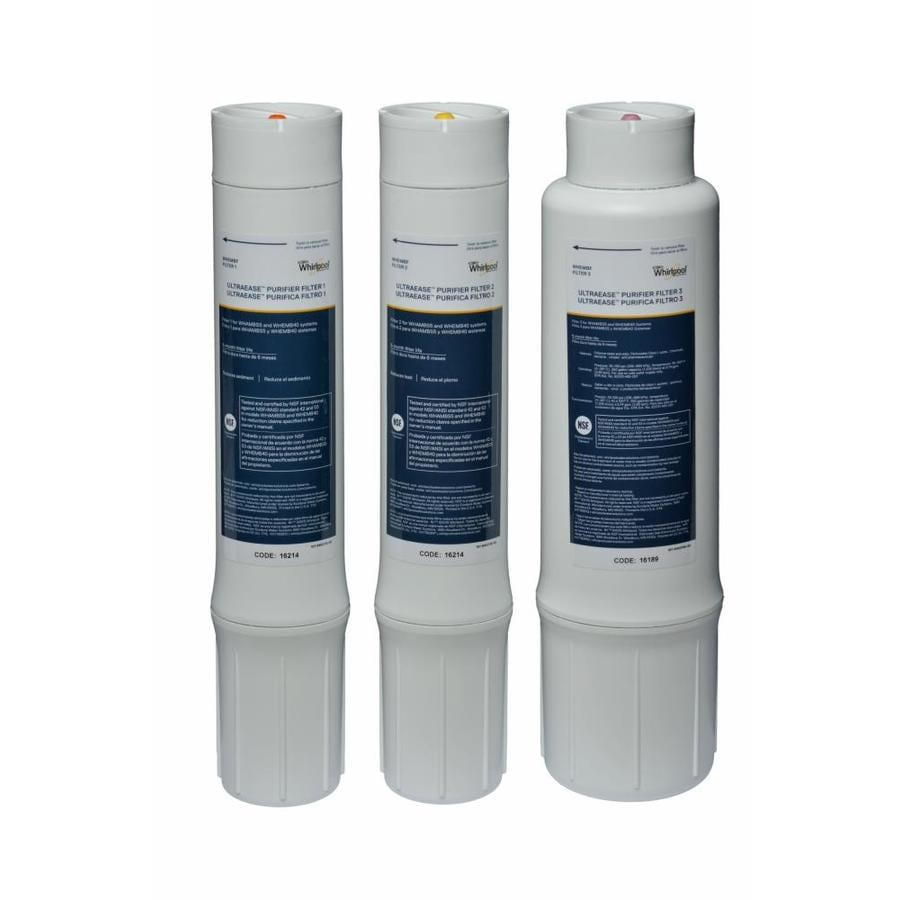 Whirlpool 3-Pack Under Sink Replacement Water Filters