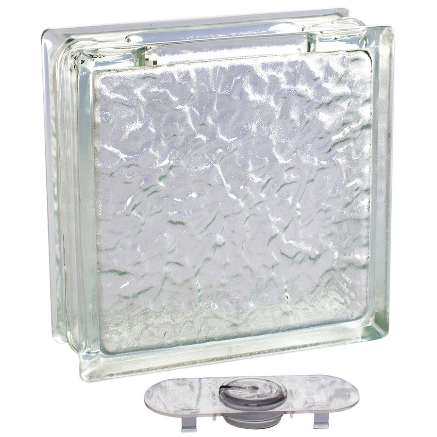 Shop pittsburgh corning decobloc ice thinline 4 pack glass for Glass blocks for crafts lowes