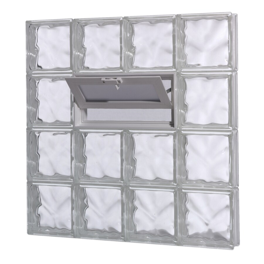 Shop pittsburgh corning guardwise decora vented frameless for Where to buy glass block windows